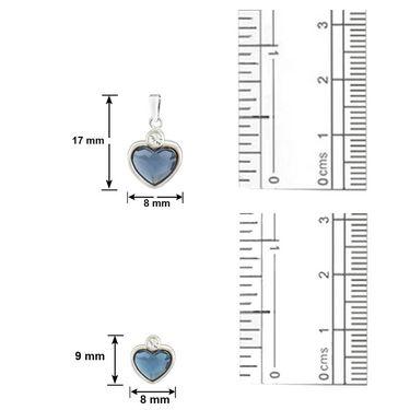 Mahi Rhodium Plated Swarovski Elements Pendant Set_Nl5104109rblucd