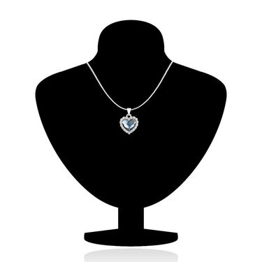 Mahi Rhodium Plated Swarovski Elements Pendant Set_Nl5104118rblucd