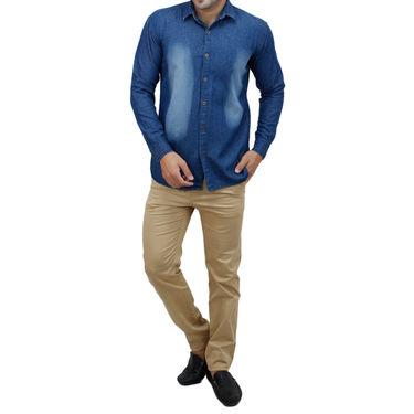Stylox Full Sleeves Slim Fit Shirt_Lb205 - Light Blue