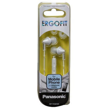 Panasonic RP-TCM125E-W In Ear Earphones with Mic (White)