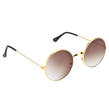 Mango People Metal Unisex Sunglasses_Mp10800gd - Black & Golden