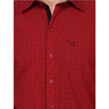 Crosscreek Cotton Casual Shirt_1030304 - Maroon