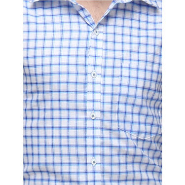Copperline Cotton Rich Formal Shirt_CPL1153 - White Blue