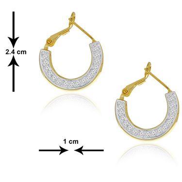 Spargz CZ Stone Studded Hook Earring_Aier210 - Silver