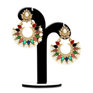 Spargz Royal Multicolour Pearl Earring_Aier329 - Multicolor