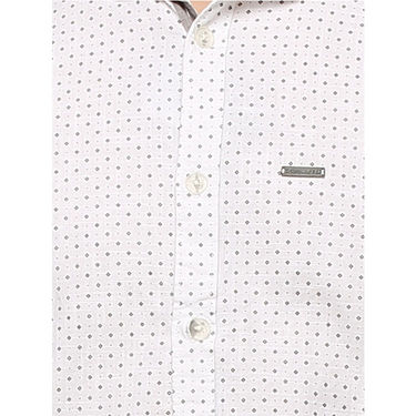 Crosscreek Printed Casual Shirt_1060304 - White