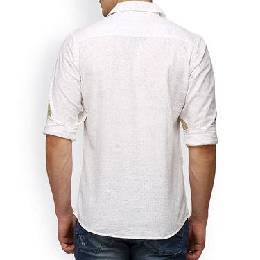 Crosscreek Printed Casual Shirt_1060305 - White