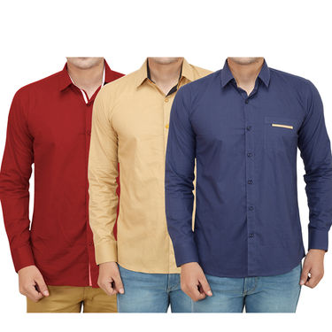 Pack of 3 Casual Shirts For Men_16018019