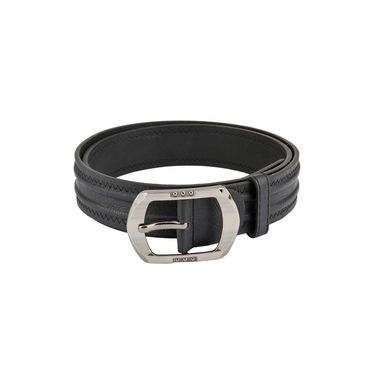 Mango People Leatherite Casual Belt For Men_Mp101bk - Black