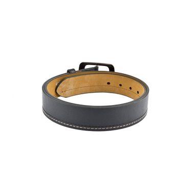 Mango People Leatherite Casual Belt For Men_Mp102bk - Black