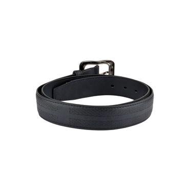 Mango People Leatherite Casual Belt For Men_Mp104bk - Black