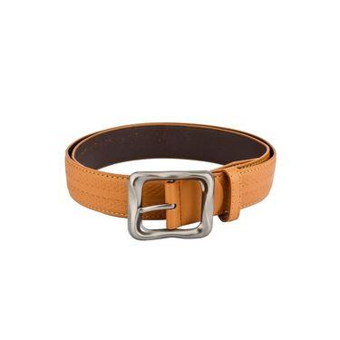 Mango People Leatherite Casual Belt For Men_Mp104tn - Tan