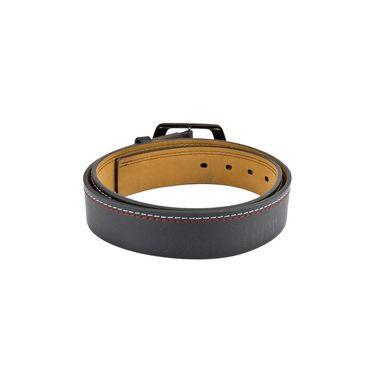 Mango People Leatherite Casual Belt For Men_Mp110bk - Black