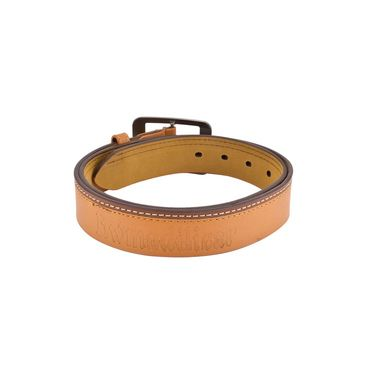 Mango People Leatherite Casual Belt For Men_Mp112tn - Tan