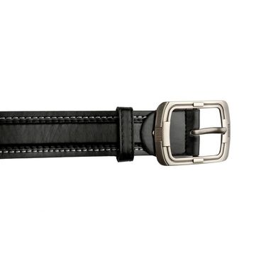 Mango People Leatherite Casual Belt For Men_Mp113bk - Black