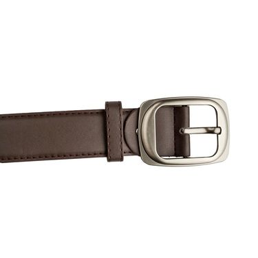 Mango People Leatherite Casual Belt For Men_Mp114br - Brown