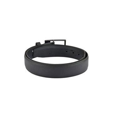 Mango People Leatherite Casual Belt For Men_Mp116bk - Black