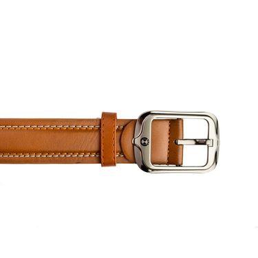 Mango People Leatherite Casual Belt For Men_Mp117tn - Tan