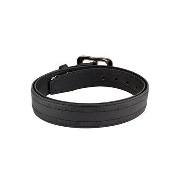Mango People Leatherite Casual Belt For Men_Mp120br - Black