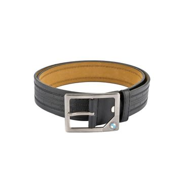Mango People Leatherite Casual Belt For Men_Mp123bk - Black