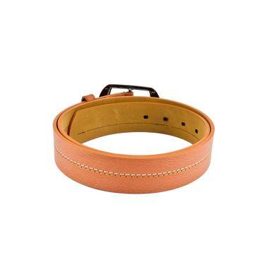Mango People Leatherite Casual Belt For Men_Mp124tn - Tan