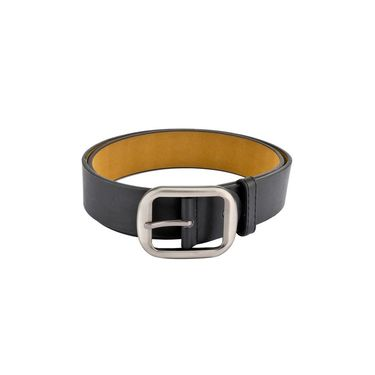 Mango People Leatherite Casual Belt For Men_Mp125bk - Black
