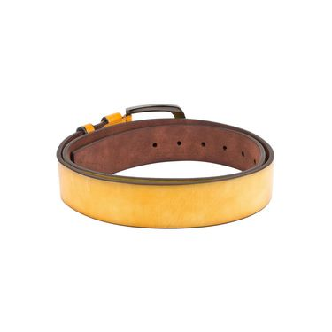 Swiss Design Leatherite Casual Belt For Men_Sd02yl - Yellow