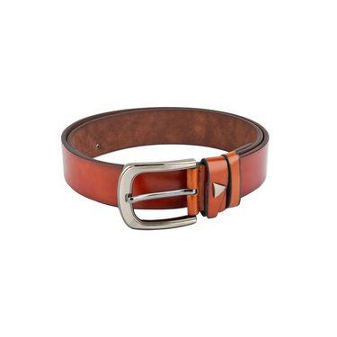 Swiss Design Leatherite Casual Belt For Men_Sd02tn - Tan