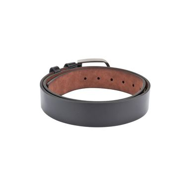 Swiss Design Leatherite Casual Belt For Men_Sd03blk - Black