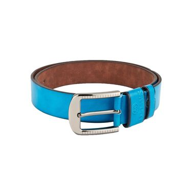 Swiss Design Leatherite Casual Belt For Men_Sd05bl - Blue