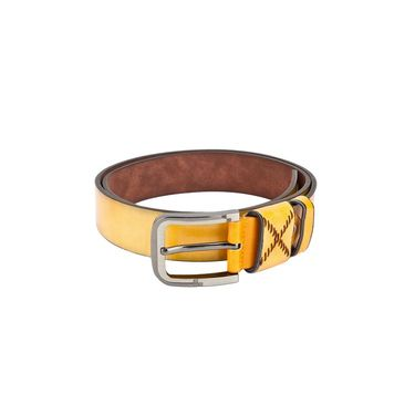 Swiss Design Leatherite Casual Belt For Men_Sd08yl - Yellow