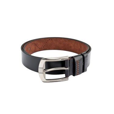 Swiss Design Leatherite Casual Belt For Men_Sd101blk - Black
