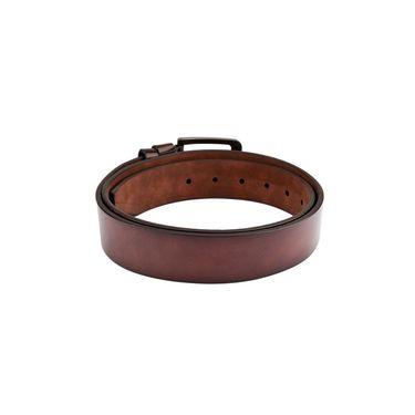 Swiss Design Leatherite Casual Belt For Men_Sd105br - Brown