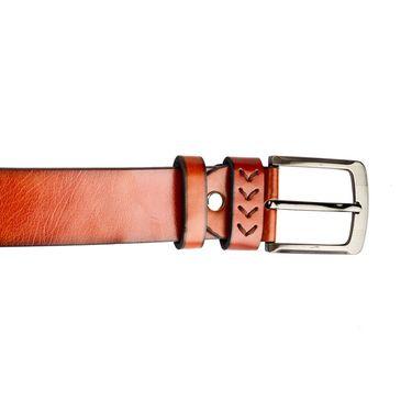 Swiss Design Leatherite Casual Belt For Men_Sd111tn - Tan