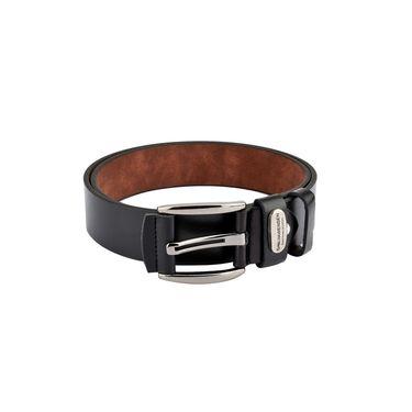 Swiss Design Leatherite Casual Belt For Men_Sd115blk - Black