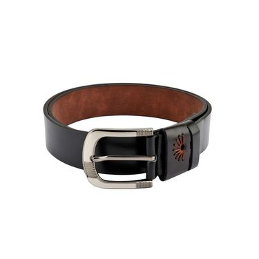 Swiss Design Leatherite Casual Belt For Men_Sd120blk - Black