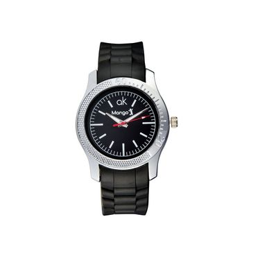 Mango People Round Dial Watch For Men_MP028 - Black