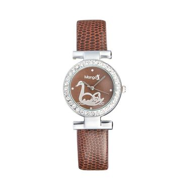 Mango People Round Dial Watch For Women_MP002BR02 - Brown