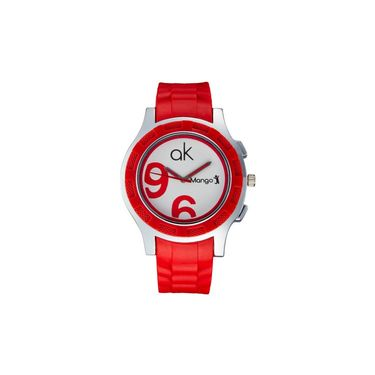 Mango People Round Dial Watch For Women_MP038 - White