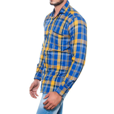 Brohood Slim Fit Full Sleeve Cotton Shirt For Men_A5025 - Blue
