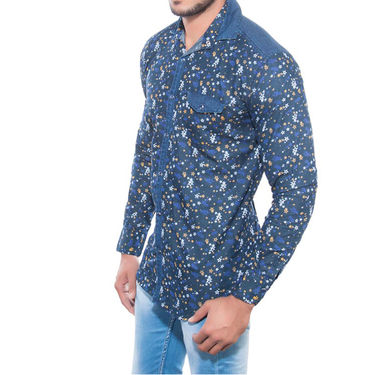 Brohood Slim Fit Full Sleeve Shirt For Men_A5033 - Blue
