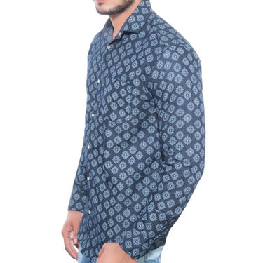 Brohood Slim Fit Full Sleeve Shirt For Men_A5035 - Blue
