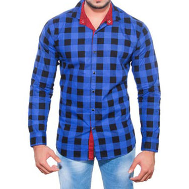 Brohood Slim Fit Full Sleeve Cotton Shirt For Men_A5072 - Blue