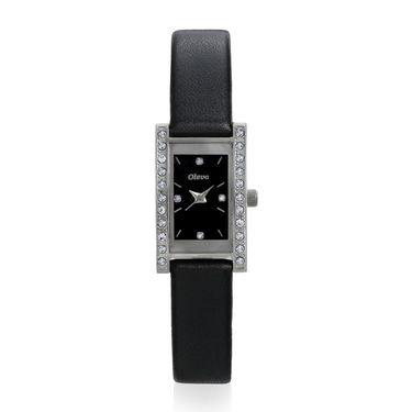Oleva Analog Wrist Watch For Women_Olw5sb - Silver & Black