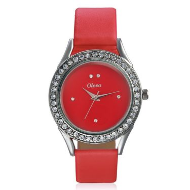 Oleva Analog Wrist Watch For Women_Olw15r - Red