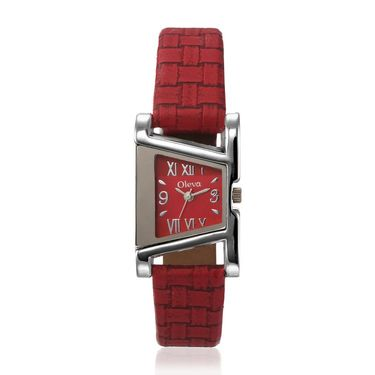 Oleva Analog Wrist Watch For Women_Olw18r - Red