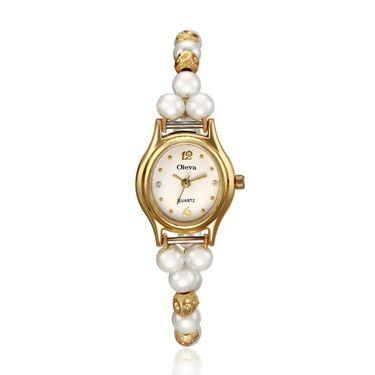 Oleva Analog Wrist Watch For Women_Opw11wg - White