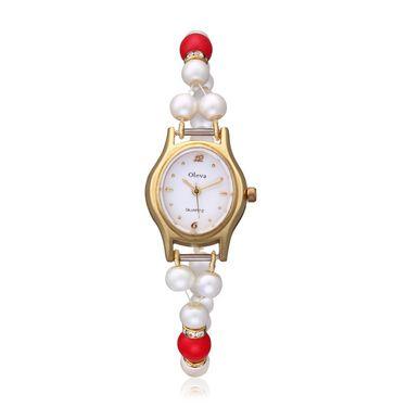 Oleva Analog Wrist Watch For Women_Opw75 - White