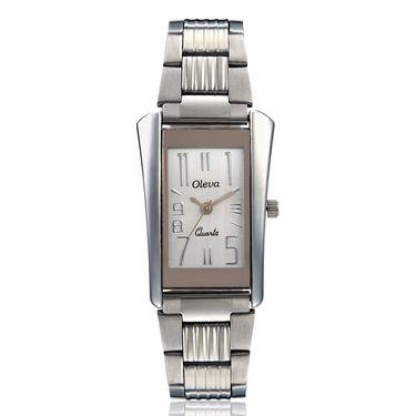 Oleva Analog Wrist Watch For Women_Osw8w - White