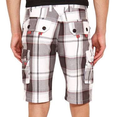 Pack of 2 Wajbee Cotton Cargo Shorts For Men_Combo4